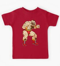 Zangief - russian fighter Kids Tee