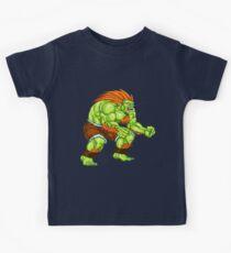 Blanka - green fighter Kids Tee