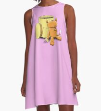Ringo the Ringtail Possum & Biscuits A-Line Dress