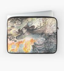 Thoughts Simmering in Flame Laptop Sleeve