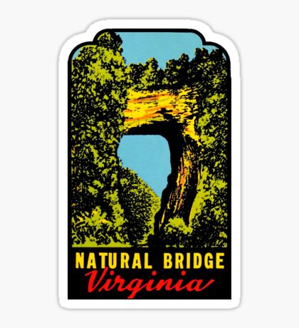 Natural Bridge Virginia Vintage Travel Decal Sticker