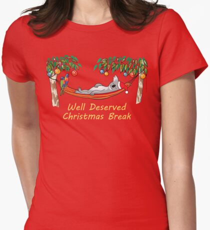 Koala Relaxing on its Hammock on a Well Deserved Christmas Break T-Shirt