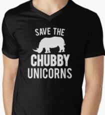 Save The Chubby Unicorn  Men's V-Neck T-Shirt