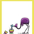 Happy Easter Emu Cute Card by eddcross