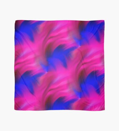 Hot Pink And Blue Abstract Strokes Scarf