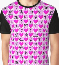 I LOVE GYMNASTICS PINK HEART DESIGN Graphic T-Shirt