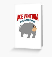 ACE VENTURA - RHINO DISGUISE Greeting Card