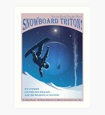 Raum-Reise-Plakat - Snowboard Triton! Kunstdruck