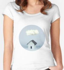 A cloud over the house Women's Fitted Scoop T-Shirt