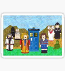 6th Doctor and his companion Peri Sticker