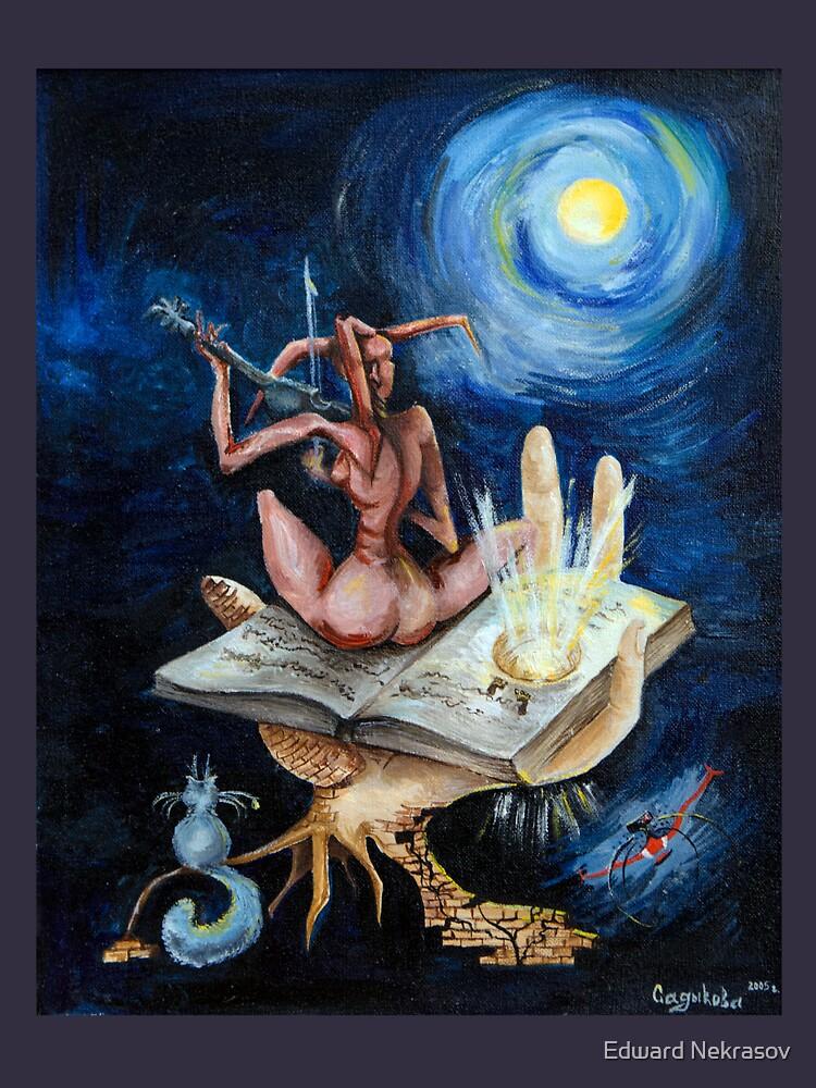 Dreams on a moonlit night by Sadykova