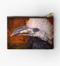 Long Tailed Hornbill Portrait Studio Pouch