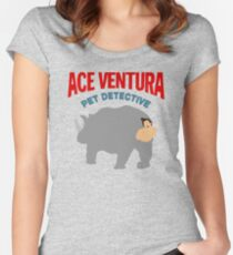ACE VENTURA - RHINO DISGUISE Women's Fitted Scoop T-Shirt