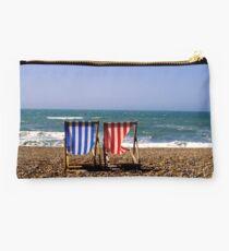 Brighton Beach, UK - Deck Chairs Studio Pouch