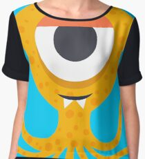 Cute Octopus geek art Chiffon Top