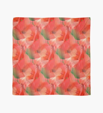 Peach Gladiola Flower Pattern Scarf