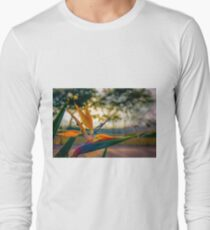 Backlit Bird of Paradise  T-Shirt