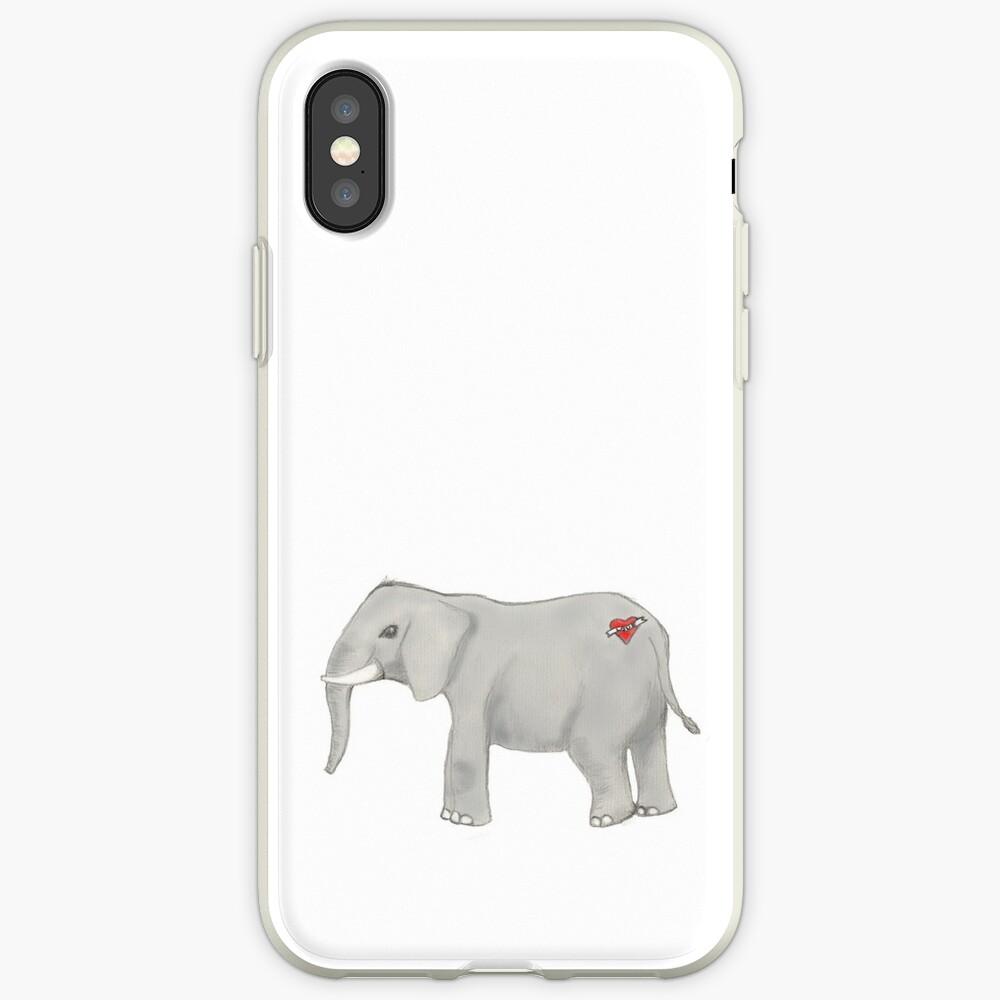 Elefant mit einer Tätowierung iPhone-Hülle & Cover
