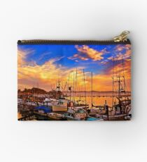 The Dock At Sunset Studio Pouch