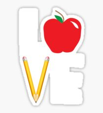 Love Teaching Cute Teacher Appreciation Sticker