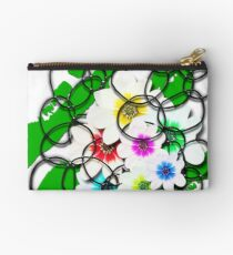 Flowers and Circles Studio Pouch