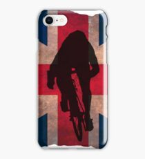 Cycling Sprinter on UK Flag iPhone Case/Skin