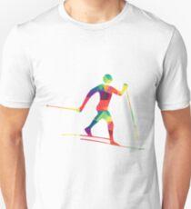 Bunter Langläufer Unisex T-Shirt