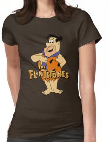 The Flintstones Funny Cartoon Womens Fitted T-Shirt
