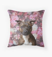 Tyger on flowers Throw Pillow