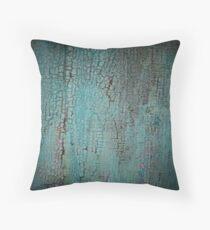 Teal Blue Flakes Throw Pillow