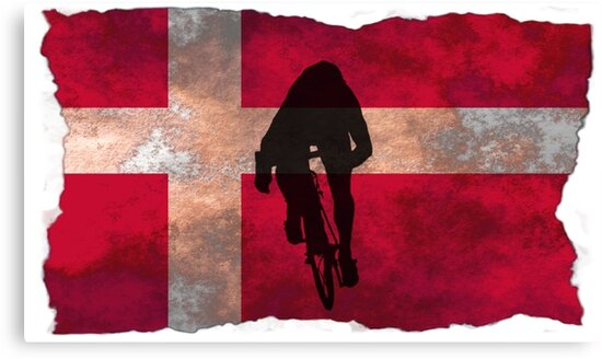 Cycling Sprinter on Denmark Flag by AKindChap