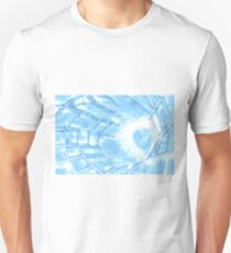 futuristic design in the form of a web with a bright light T-Shirt