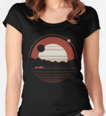 Camiseta entallada de cuello ancho Soledad