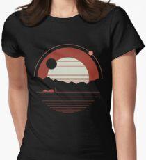 Einsamkeit Tailliertes T-Shirt für Frauen