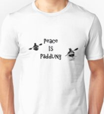 Peace is Paddling Due T-Shirt