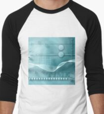 the mystery of time and numbers , art background Men's Baseball ¾ T-Shirt