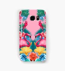 Flamingo and Tropical garden Samsung Galaxy Case/Skin