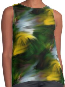 Abstract Yellow Green And White Colors Contrast Tank