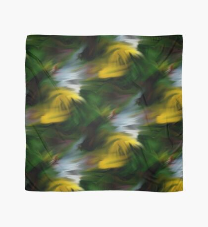 Abstract Yellow Green And White Colors Scarf
