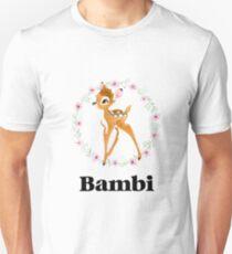 Bambi - Schwarz Slim Fit T-Shirt