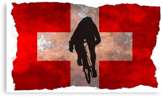 Cycling Sprinter on Swiss Flag by AKindChap