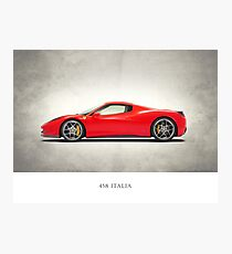 The 458 Italia Photographic Print