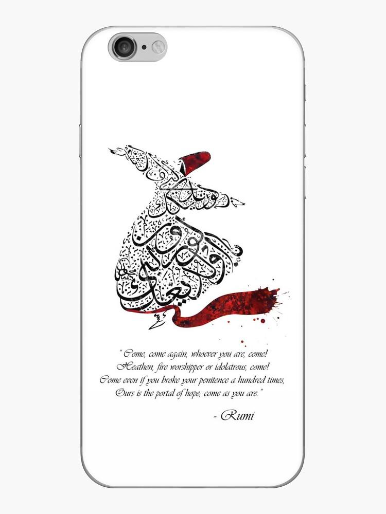 Rumi Quotes Calligraphy Vertical by HermesArtStudio