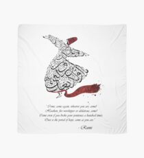 Rumi Quotes Calligraphy Vertical Scarf