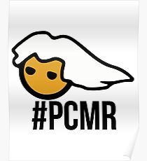 PC Masterrace head - with text - PCMR Poster