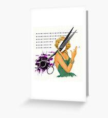 big scissors Greeting Card