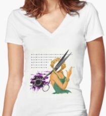 big scissors Women's Fitted V-Neck T-Shirt