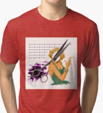 big scissors Tri-blend T-Shirt