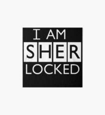 i am sher locked Art Board