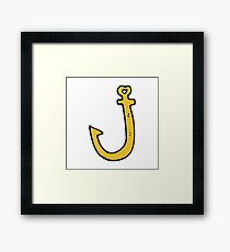 cartoon hook Framed Print